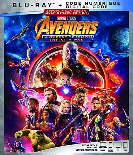 AVENGERS: INFINITY WAR [Blu-ray] (Bilingual) Robert Downey Jr. Chris Hemsworth Mark Ruffalo Chris Evans