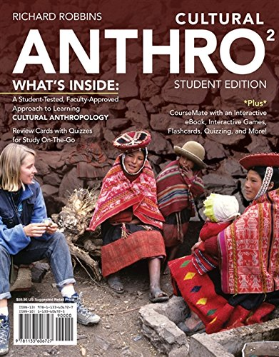 Cultural ANTHRO2 (with CourseMate, 1 term (6 months) Printed Access Card) (New, Engaging Titles from 4LTR Press)