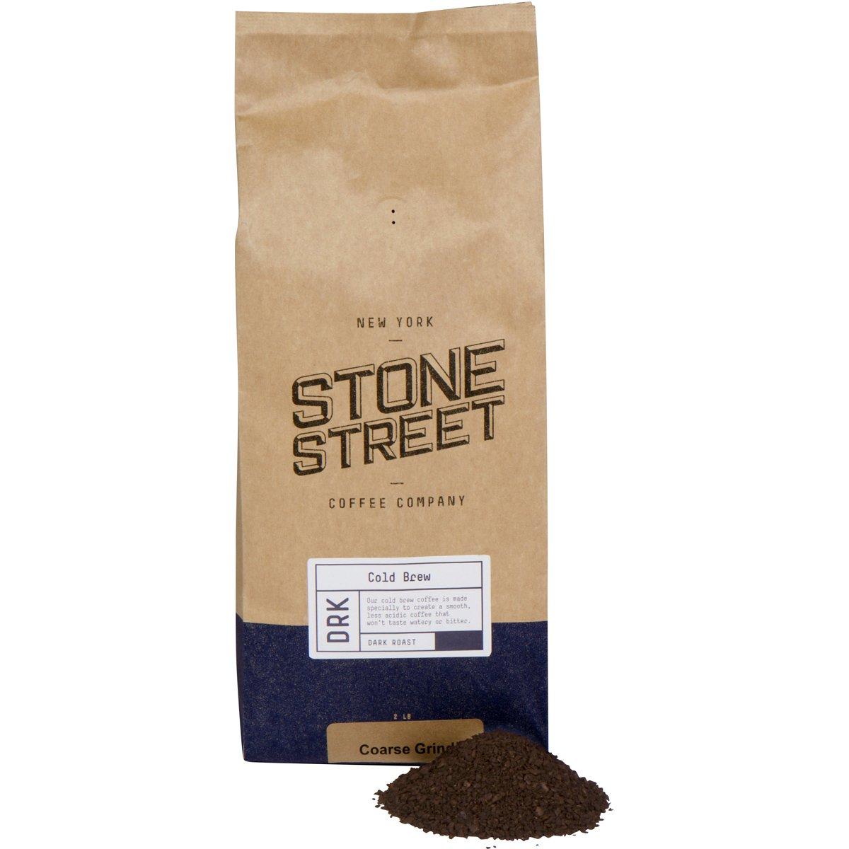 Cold Brew Reserve Coarse Ground Coffee - 2 lb. Bag - Dark Roast - Colombia Arabica Single Origin by Stone Street Coffee