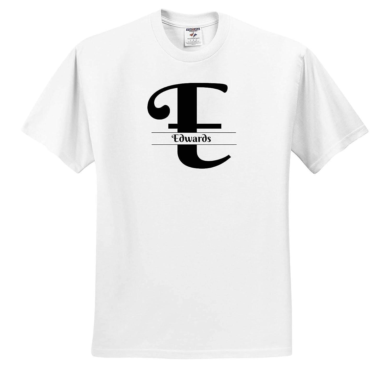 T-Shirts 3dRose BrooklynMeme Monograms Bold Script Monogram E Edwards
