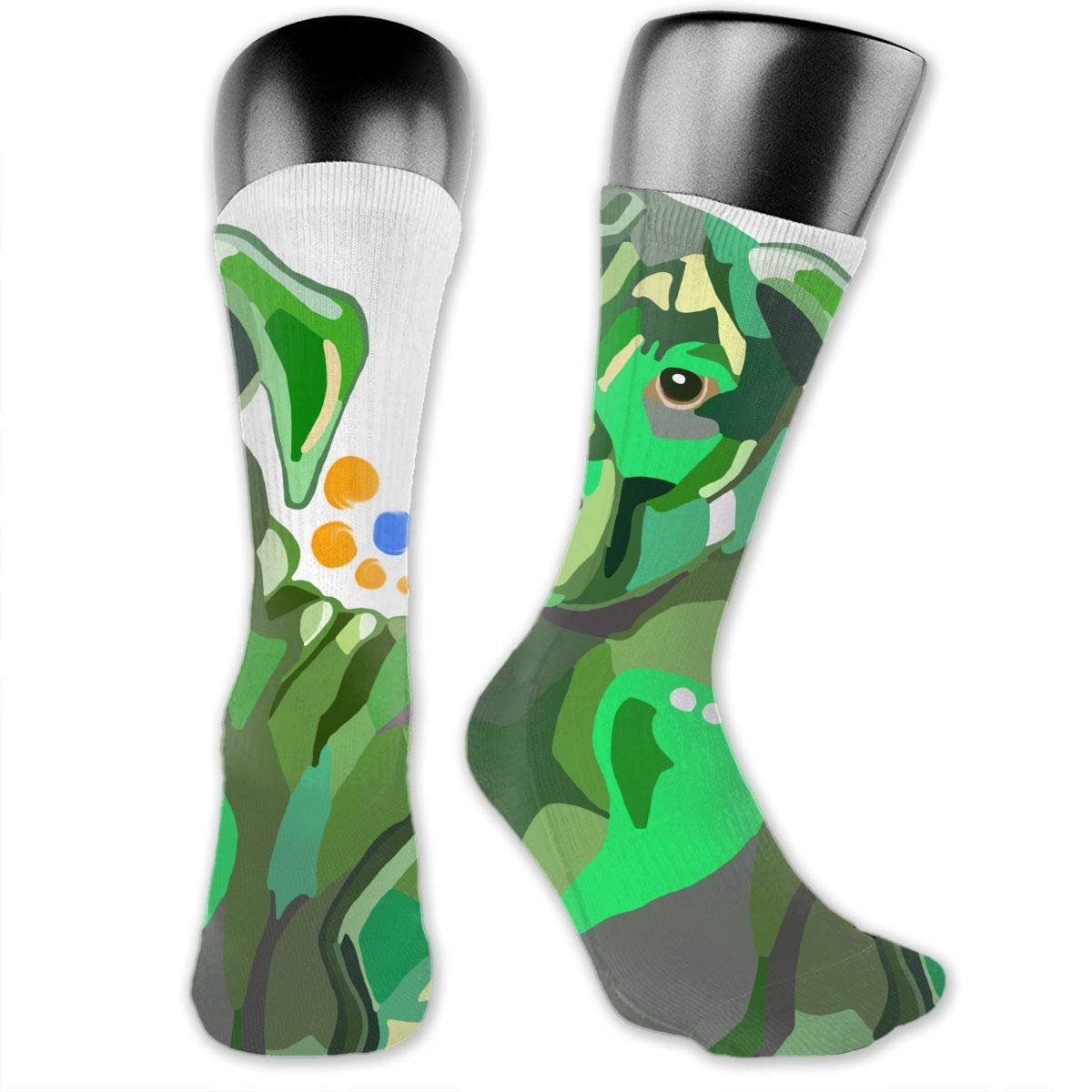 OLGCZM Green Sad Dog Men Womens Thin High Ankle Casual Socks Fit Outdoor Hiking Trail