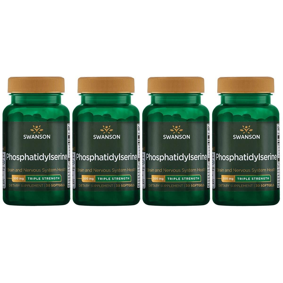 Swanson Phosphatidylserine – Triple Strength 300 mg 30 Sgels 4 Pack