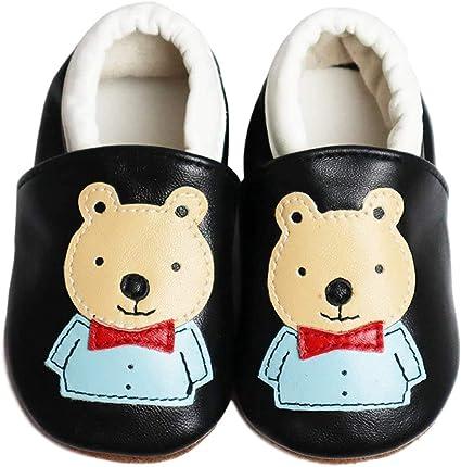 TRIWORIAE-Chaussures B/éb/é Cuir Souple Chaussons Premiers Pas Respirant pour Fille Nourrisson Efant