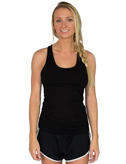 29dc013295cad Woolx Womens Ella Lightweight   Breathable Merino Wool Racerback Tank Top