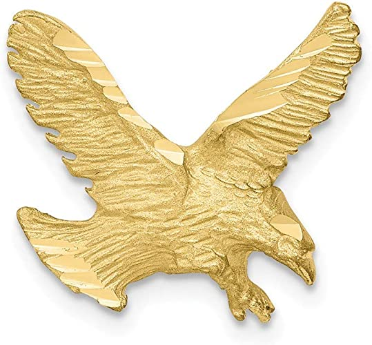 10k Yellow Gold Eagle Pendant Charm Necklace Bird Fine Jewelry Gifts Women Her