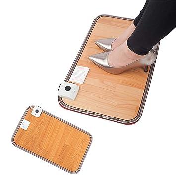 AUTOECHO Almohadilla térmica para pies Debajo del Escritorio para oficinas con Zapatos de tacón Alto Almohadilla eléctrica Caldera de pies Terapia de Calor ...