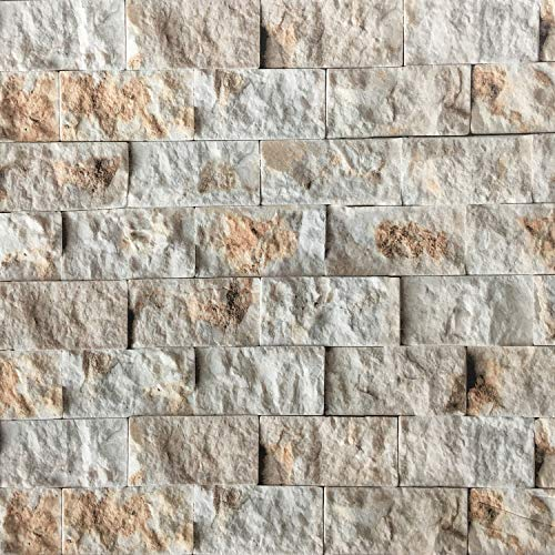 CJJ520 3D Faux Stacked Stone Brick Wallpaper,Peel and Stick Repositionable Removable Wallpaper Décor (15.75