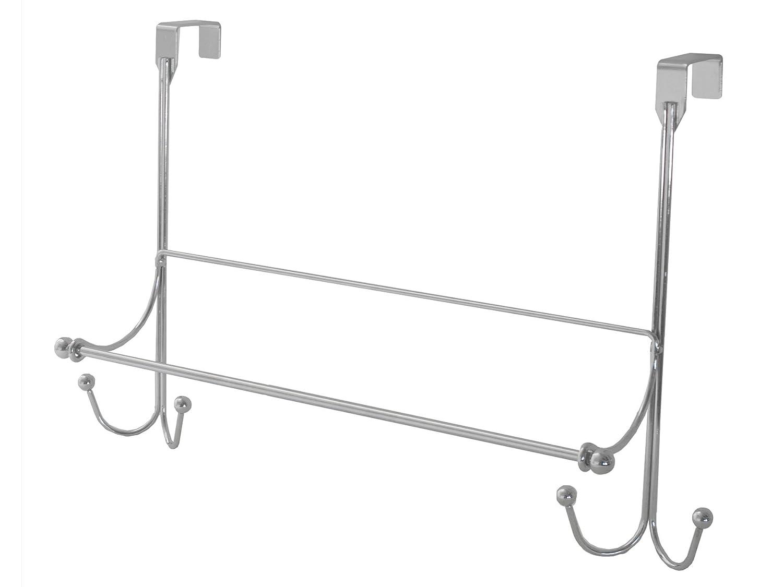 Satin Splash Home Madhu Over The Door Hook Rack Accessory Organizer 16 x 3 x 12