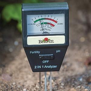 Burpee Electronic Garden Soil Tester, Batteries Not Needed