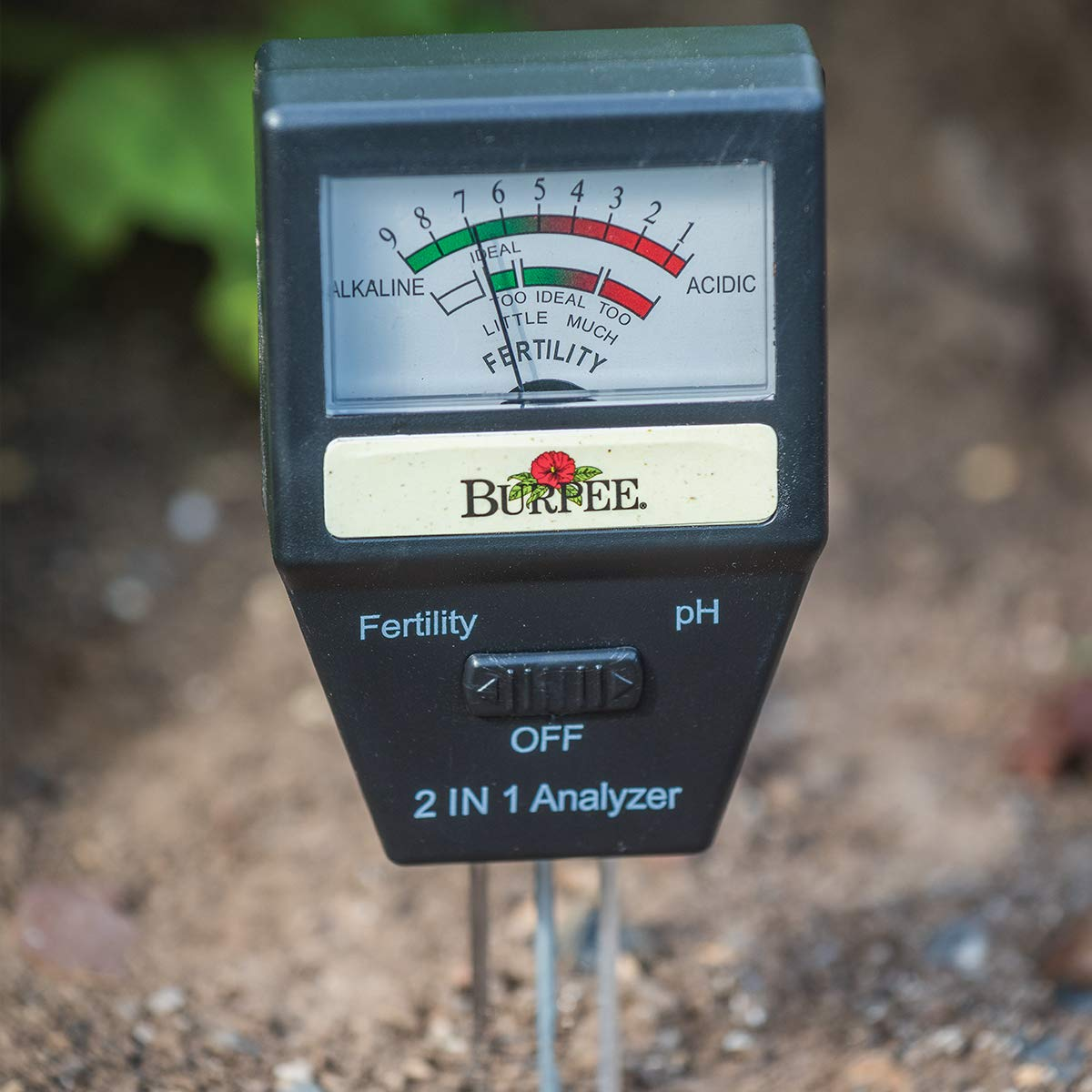 Burpee Electronic Garden Soil Tester, Batteries Not Needed