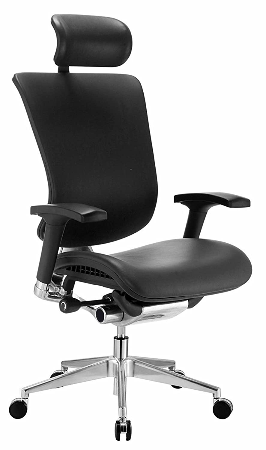 GM Seating Ergonomic Executive Genuine Leather Chair Dreem Chair Chrome Base
