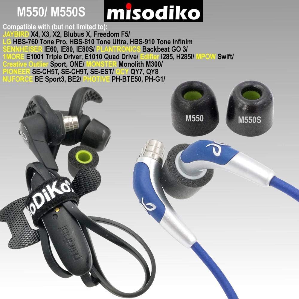 3-Pairs, S//M//L misodiko M500S Memory Foam Earbuds Tips BlueBuds X//Sennheiser//ATH-IM70// Skullcandy Inkd Method//Powerbeats Replacement Earphones Eartips Freedom 2 F5 for Jaybird X4 X3 X2