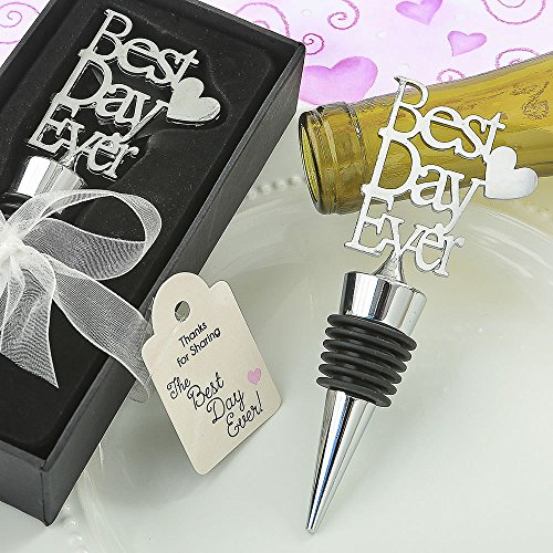 72 Metal Best Day Ever Bottle Stoppers by Fashioncraft