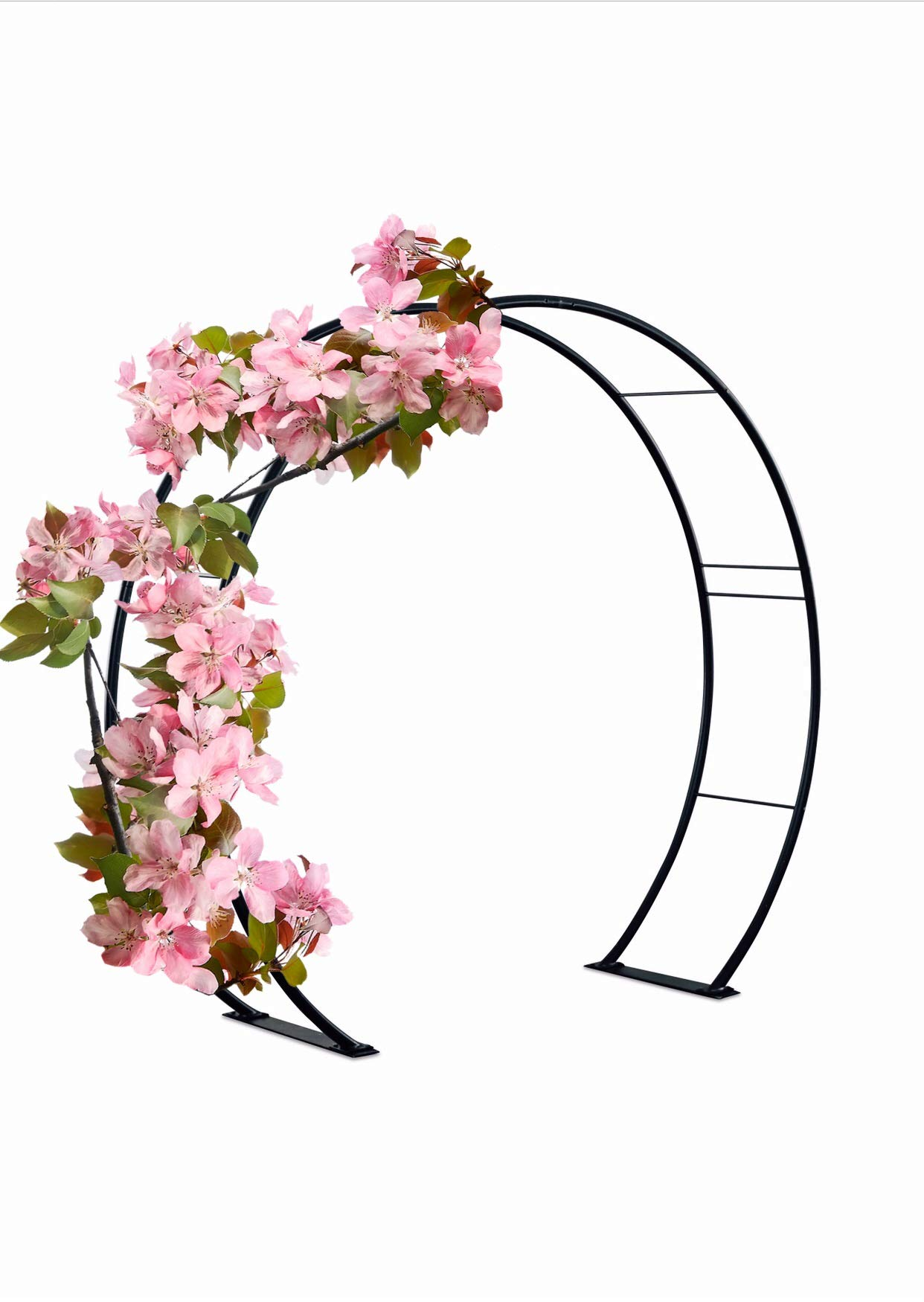 Kinsman 81'' H x 87'' W Moon Gate Circle Garden and Wedding Arch