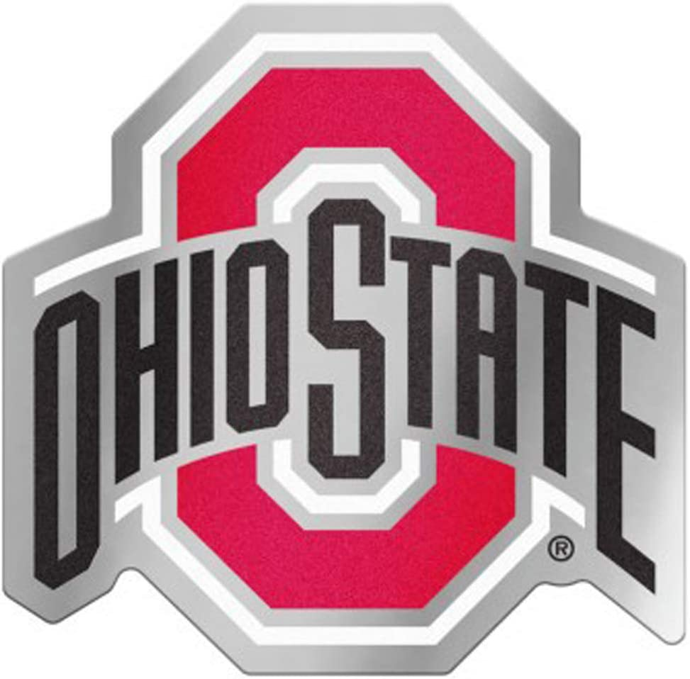 Ohio State Buckeyes Auto Badge Decal Hard Thin Plastic