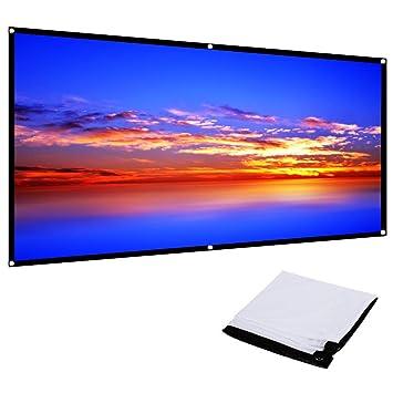 TOPTRO Pantalla de Proyección, 4K Ultra HD 16: 9 Pantalla Plegable ...