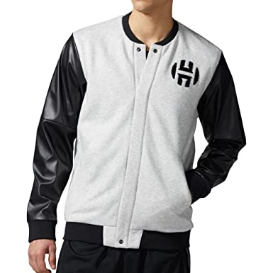 Varsity Harden Grey Men's Light Adidas Originals Jacket Basketball Rq34AL5jc