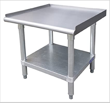Amazoncom EQUIPMENT STANDS W GALVANIZED ADJUSTABLE UNDERSHELF - Restaurant table stands