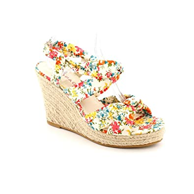 20be3efca Rampage Women's Brixton Espadrille Wedge Sandals, Natural Floral, ...