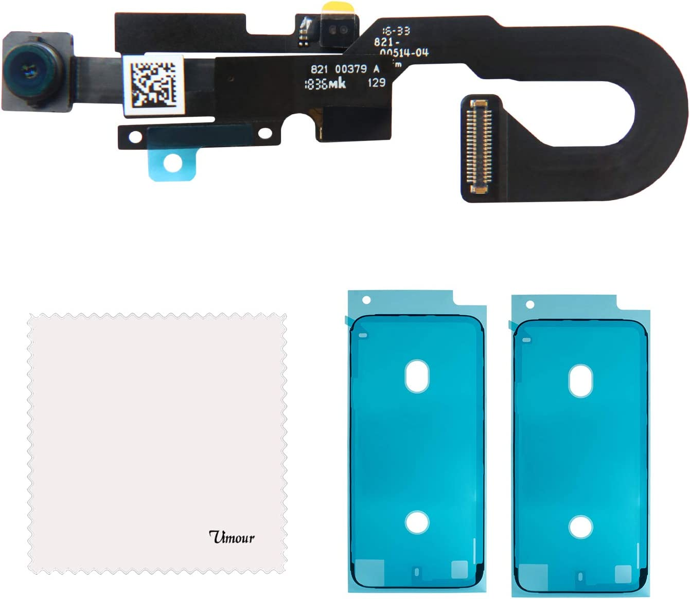 Vimour OEM Original Front Camera Proximity Light Sensor Flex Cable Ribbon Assembly Replacement for iPhone 7 4.7 Inches Model (A1660, A1778 and A1779) with 2 Pieces OEM Screen Adhesive Tapes