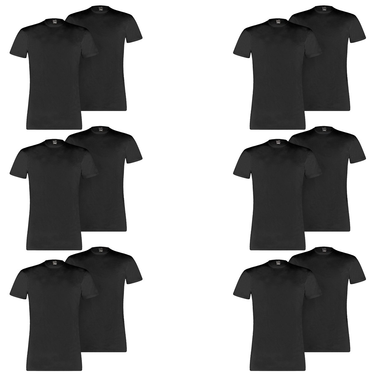 Puma 12 er Pack Basic Crew T Shirt Men Herren Unterhemd