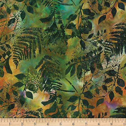 Hoffman Fabrics Bali Batiks Foliage Fabric, Jungle, Fabric By The Yard