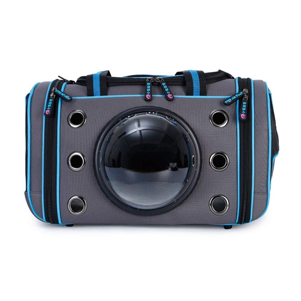 bluee HN Dog Cat Portable Pet Backpack Space Capsule Pet Bag Outing Portable Shoulder Diagonal Cross Bag Breathable Mesh,bluee