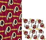 Washington Redskins NFL Football Logo Fabric Shower Curtain and 12pc Hook Bundle Set