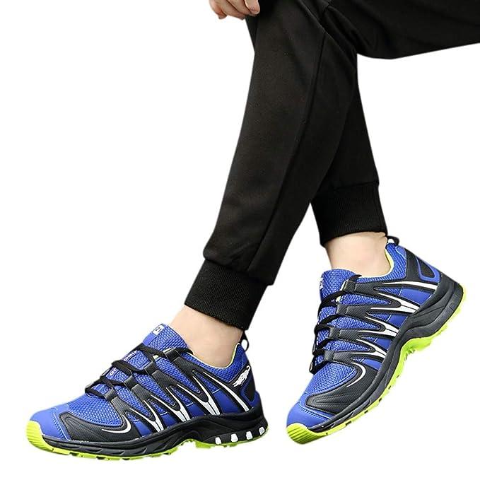 Zapatillas Hombre JiaMeng Zapatillas Running Hombre Zapatillas Deportivas Hombre De Cordones En Gimnasio Aire Libre de Deporte Antideslizante Absorción: ...