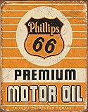 Phillips 66 Premium Oil Tin Sign 13 x 16in