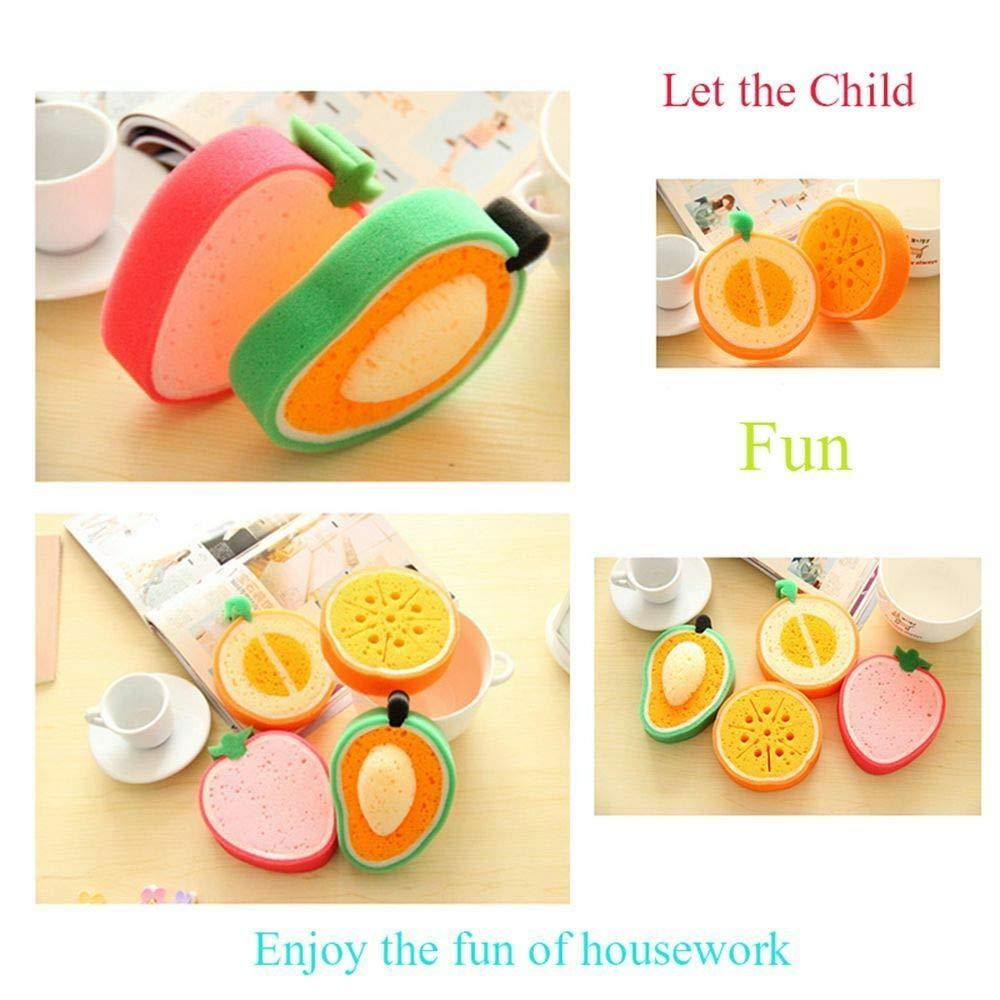 FidgetFidget Attractive Dish Piece for Melamine Dishes Magic Cleaning Sponge Kitchen Fruit Green