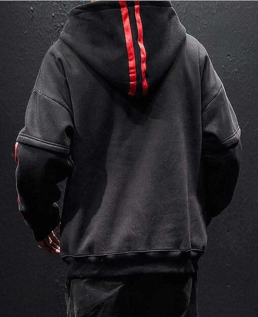 Jofemuho Mens Plus Size Loose Fit with Pockets Running Pullover Hoodies Sweatshirt