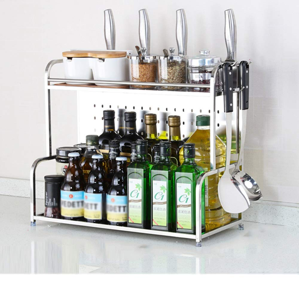 HUO Stainless Steel Racks Kitchen Counters and Cabinet Shelves are Multifunction (Color : No Chopsticks, Size : 35cm)