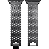 Replacement Stainless Steel Watch Band Loop Strap For Apple Watch Series 4 44mm