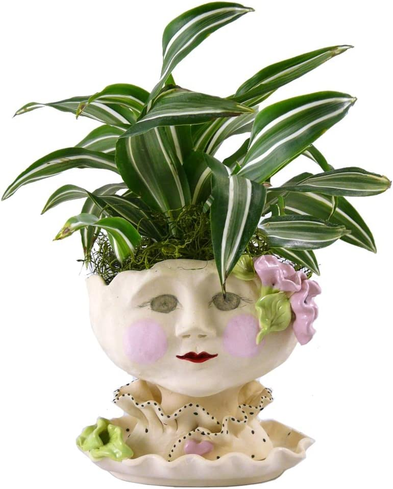 Victorian Lovelies Sculpted Pottery Indoor Head Planter Mornin Gloria