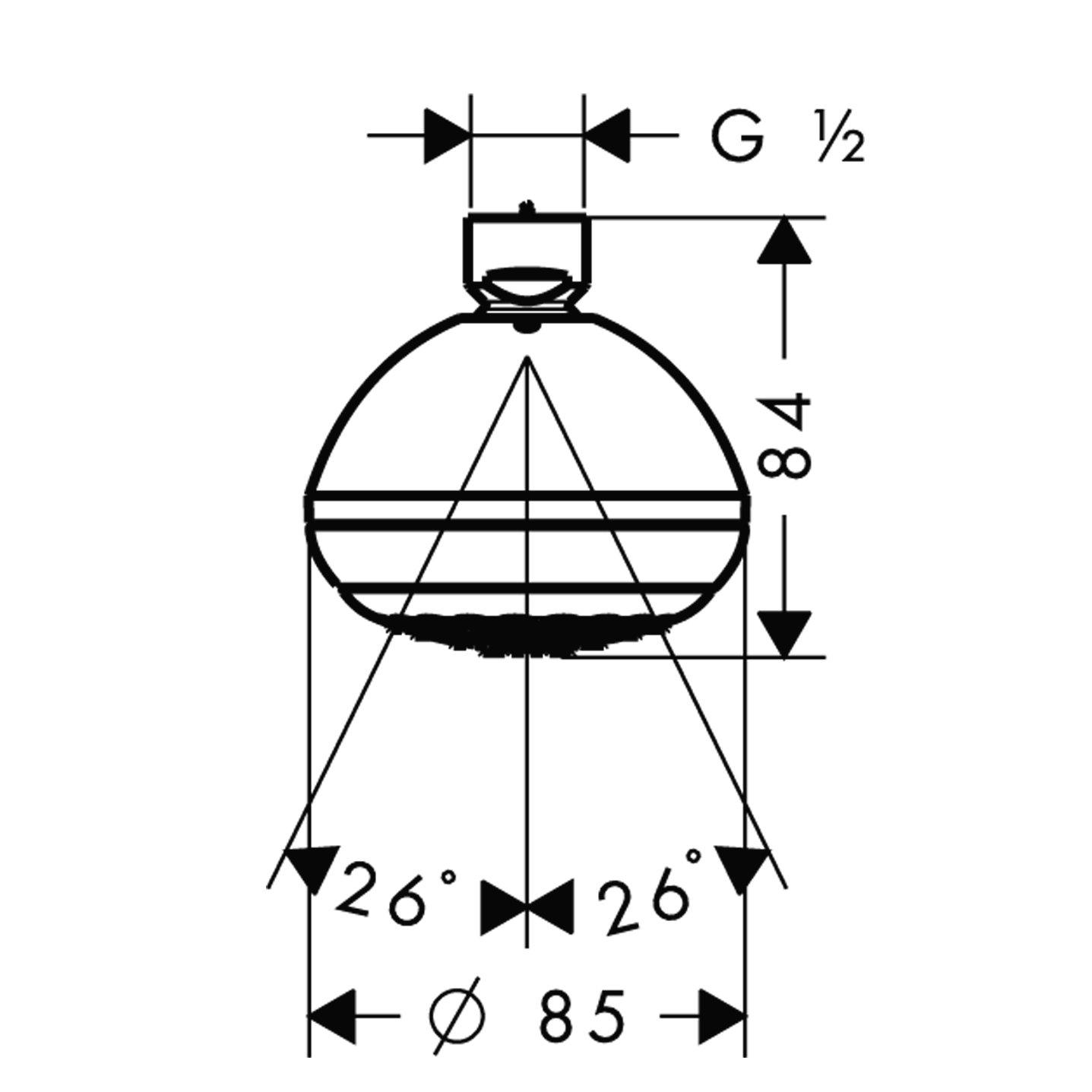 chrom hansgrohe Crometta 85 wassersparende Kopfbrause