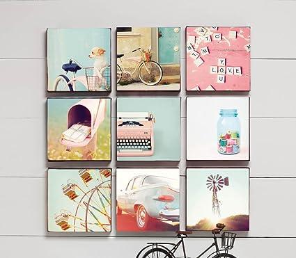 amazon com wall canvas 10x10 set of 9 prints posters prints