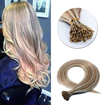 Pre Bonded Keratin Stick I Tip Remy Human Hair Extension Cold Fusion Hair  Piece for 5db60b8549