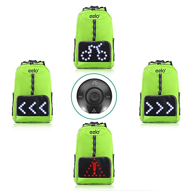 9189febd07 eelo Cyglo - The Ultimate Outdoor Cycle Backpack for Full Visibility and  Awareness. Keeping the Rider Safe from Careless Drivers. Safety Back Pack  with Rear ...