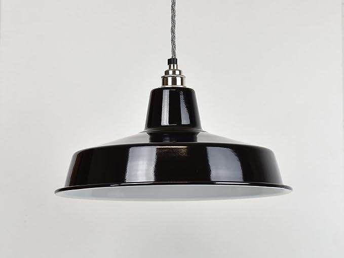 Lámpara de techo, esmalte industrial grande, color negro ...