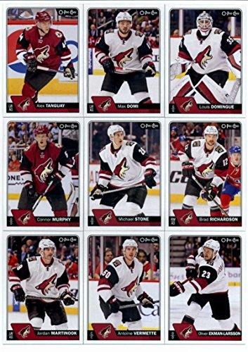 2016-17 O-Pee-Chee Hockey Arizona Coyotes Team Set of 16 Cards in Protective Snap Case: Louis Domingue(#24), Max Domi(#31), Alex Tanguay(#81), Brad Richardson(#104), Michael Stone(#131), Connor Murphy(#162), Oliver Ekman-Larsson(#190), Antoine Vermette(#215), Jordan Martinook(#241), Martin Hanzal(#268), Mike Smith(#299), Kevin Connauton(#334), Tobias Rieder(#362), Shane Doan(#470), Anthony Duclair(#499), Sergei Plotnikov(#506)