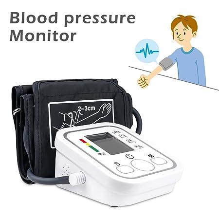 Senweit - Monitor Digital LCD de presión Arterial con Brazo Superior eléctrico y medidor de Pulso de Salud Ajustable con puño Grande: Amazon.es: Hogar