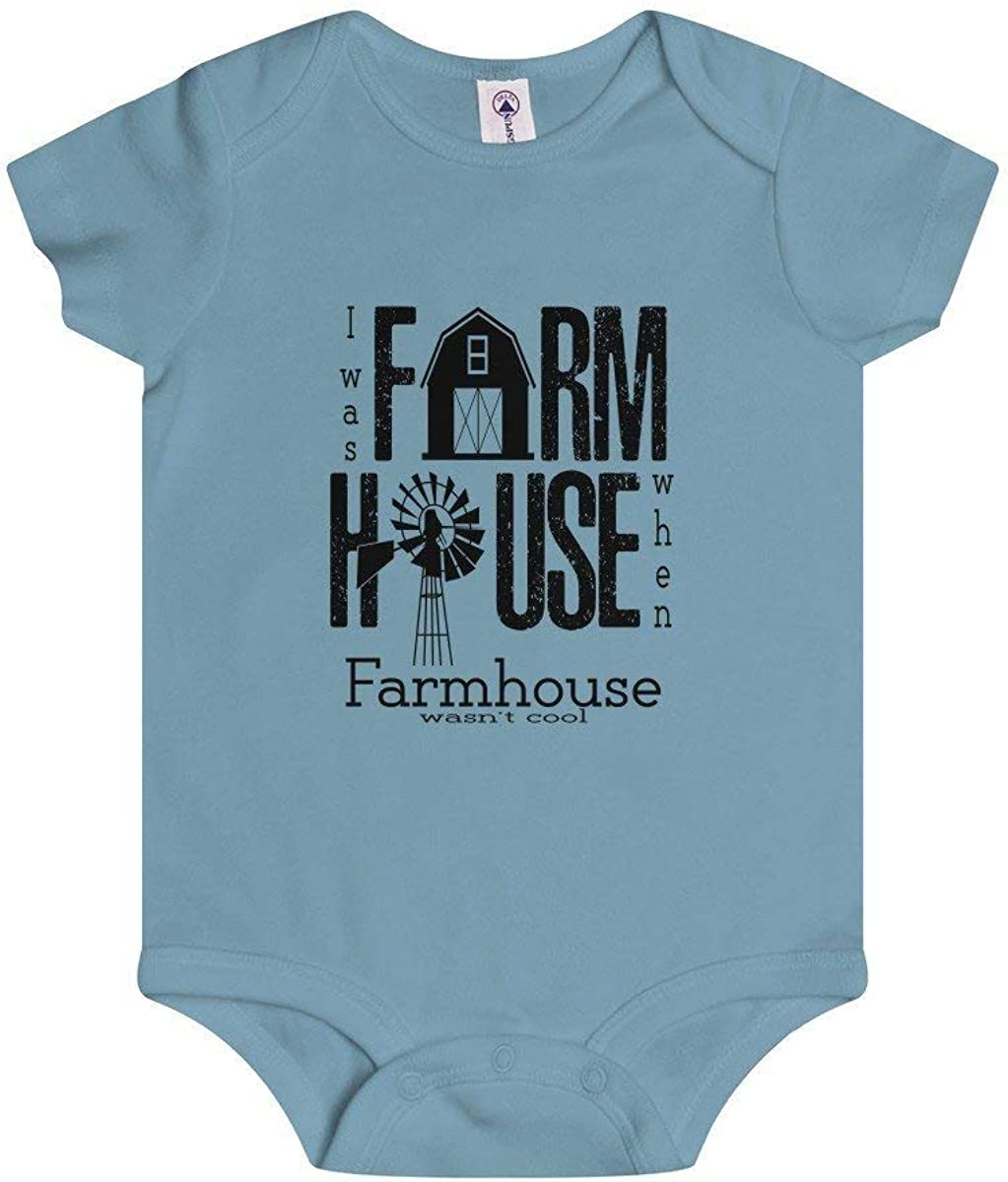 Farm House Black Infant Rip Snap Tee