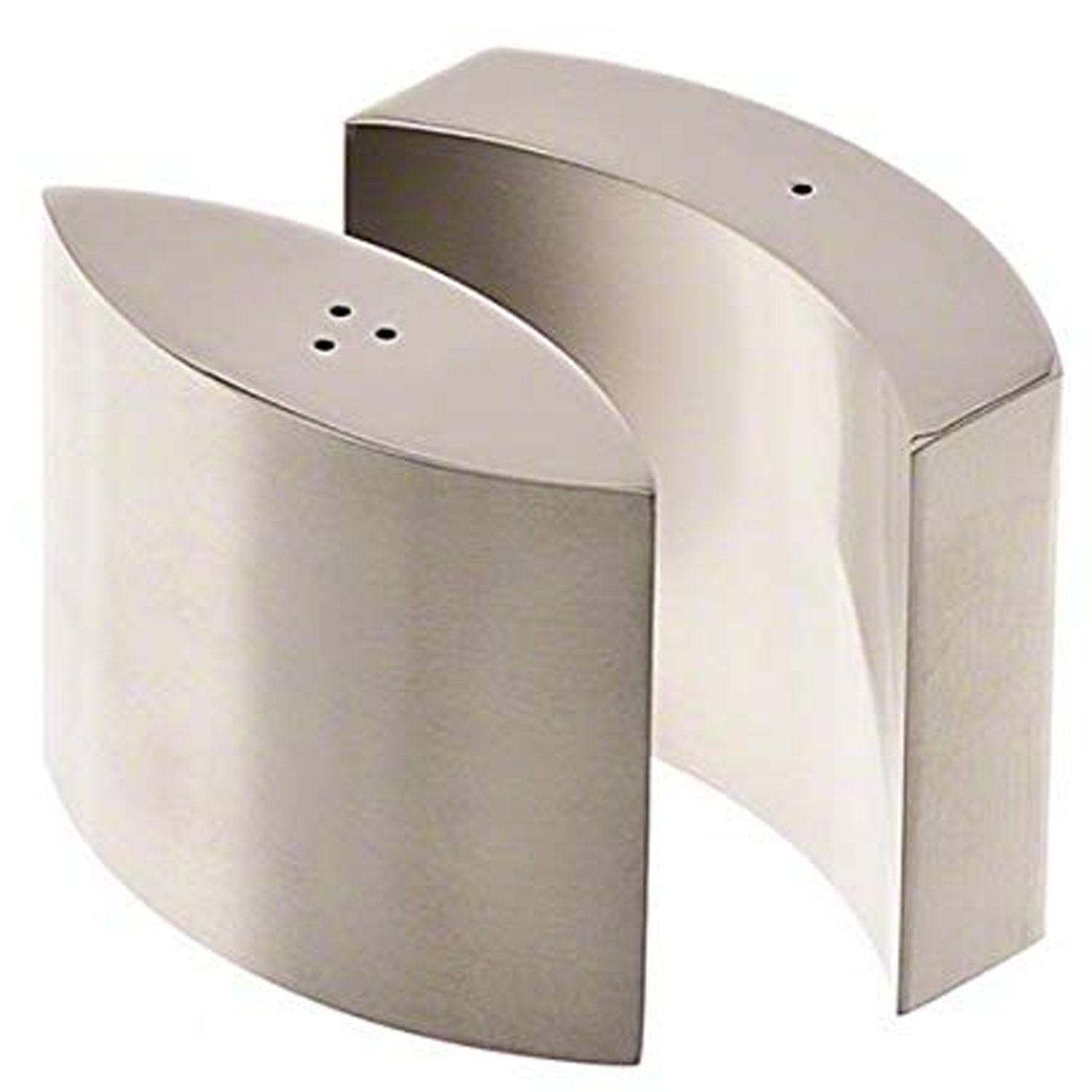 Modern Salt and Pepper Shakers Stainless Steel 4.oz (Set of 2) Modern Shape CUL-SPH78