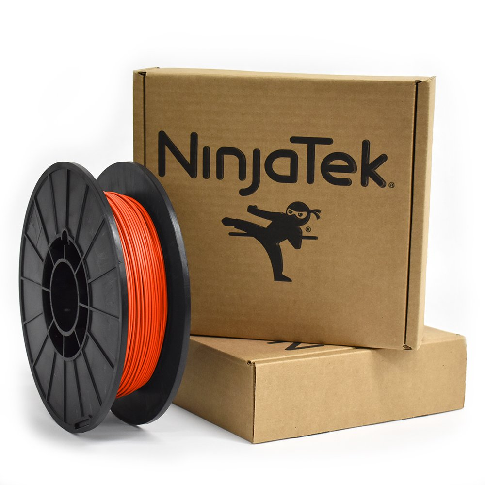 NinjaTek 3DNF05117505 NinjaTek NinjaFlex TPU Filament, 1.75mm, TPE.5kg, Lava (Orange) (Pack of 1)