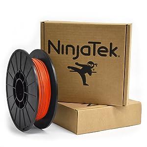 NinjaTek 3DNF05117505 NinjaTek NinjaFlex TPU Filament, 1.75mm, TPE.5kg, Lava (Orange) (Pack of 1)