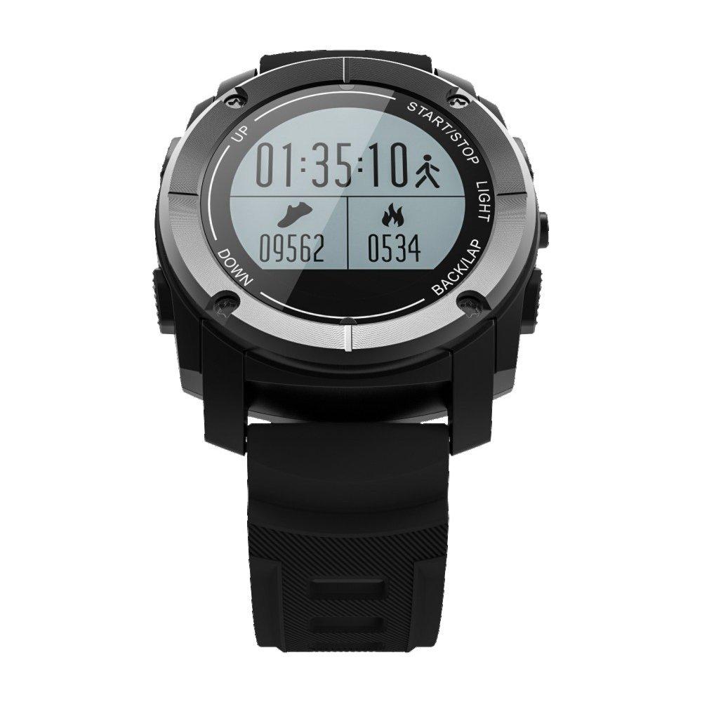 血圧スマートブレスレット心拍数 Wanfei スマートウォッチS928 Bluetooth屋外スポーツ腕時計GPSプロフェッショナルスポーツウォッチBluetoothスマートウォッチ新しい(梱包配送に) (ブラック) B07DDCQYLQ 16876  ブラック