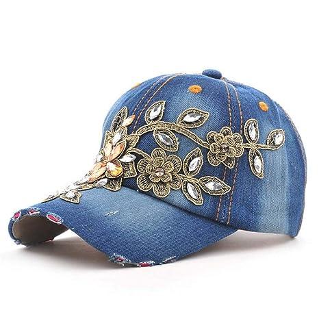 YUANBAOG Sombreros Gorras Ropa de Lavar Diamante Gorra de béisbol ...