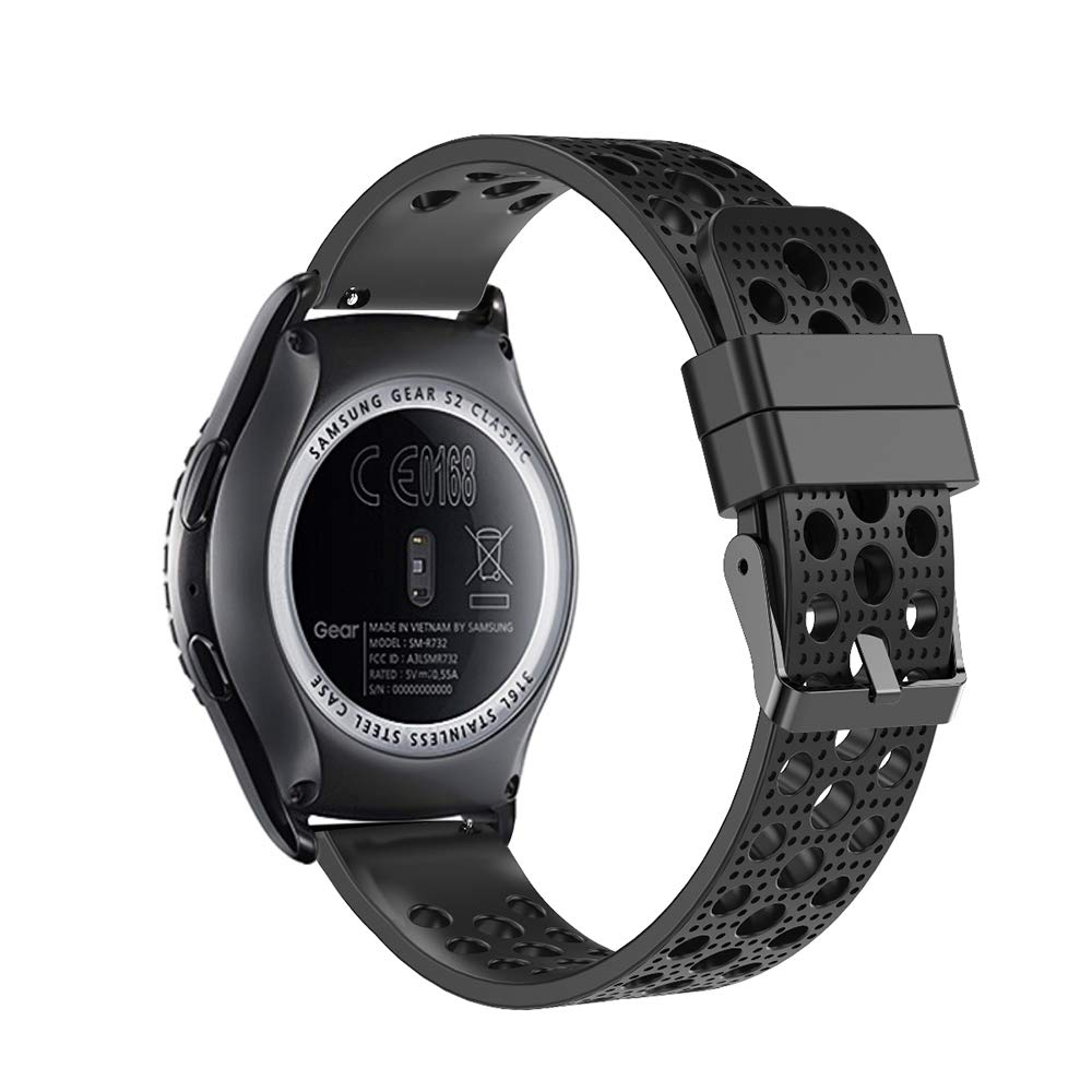 Molitec 20mm Quick Release Watch Band for Samsung Gear Sport/Garmin Vivoactive 3/Huawei Watch 2/Garmin Forerunner 645/Galaxy Watch 42mm/Garmin ...