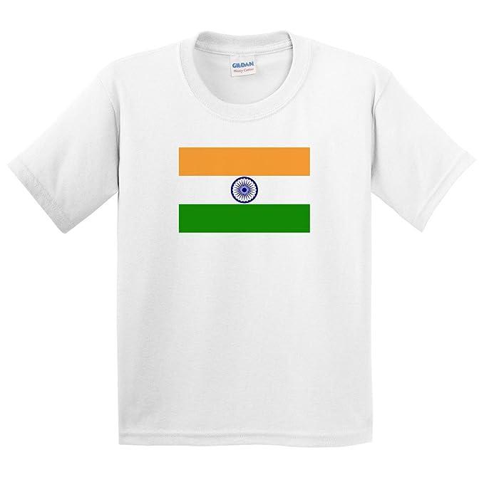 f4eed30a3 Children's India Flag T Shirt: Amazon.co.uk: Clothing